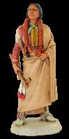 Indianerfigur Quanah Parker Häuptling H 21 cm stehend mit Friedenspfeife Castagna Limited Edition
