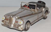 Blechauto Nostalgie Modellauto Oldtimer Alfa Romeo 6 C Modell 1951 Italien aus Blech L 31 cm