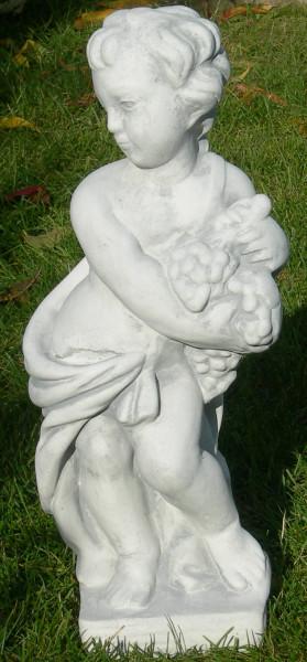 Beton Figur Statue Skulptur Vierjahreszeiten Herbst H 50 cm Putte Dekofigur Gartenskulptur