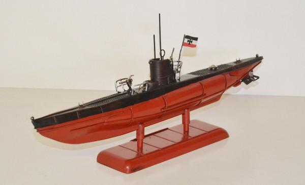 Blechmodell Nostalgie Modell U-Boot Deutsche Kriegsmarine Unterwasserboot Blech L 49 cm