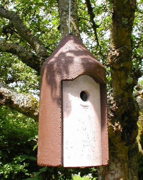 Naturschutzprodukt Nisthöhle Typ 2M Vogelhöhle freihängend FO Nisthilfe Flugloch 26 mm Satz 2 Stück