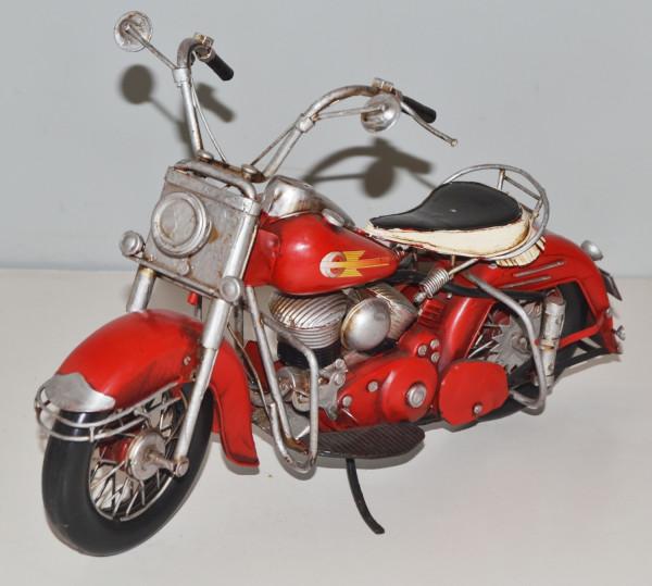 Blechmotorrad Nostalgie Modellauto Oldtimer Marke Harley-Davidson Motorrad USA aus Blech L 33 cm