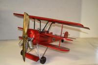 Blechflugzeug Nostalgie Modellflugzeug Oldtimer Marke Fokker Roter Baron Flugzeug aus Blech L 80 cm