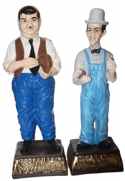 Dekorationsfiguren Komiker Dick und Doof H 47-9 cm stehend Deko Figuren aus Kunstharz