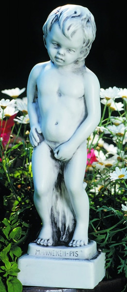 Deko Figur Statue Männeken junger Bube Piß 34 cm Gartenskulptur Dekofigur aus Kunststoff
