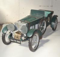 Blechauto Nostalgie Modellauto Oldtimer Automarke Bentley Blower Roadster Modell aus Blech L 140 cm