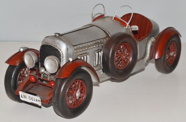 Blechauto Nostalgie Modellauto Oldtimer Bentley Roadster 1927 aus Blech L 33 cm