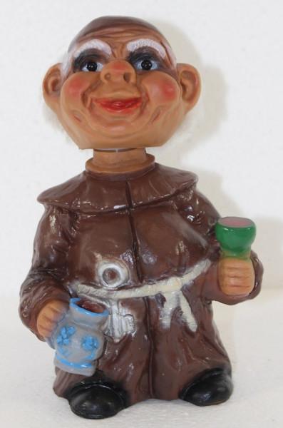 Souvenir Wackel Figur Mönch klein H 15 cm Wackelfigur Original mit Wackelkopf