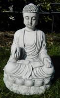 Beton Figur Buddha sitzend H 30 cm Dekofigur und Gartenskulptur