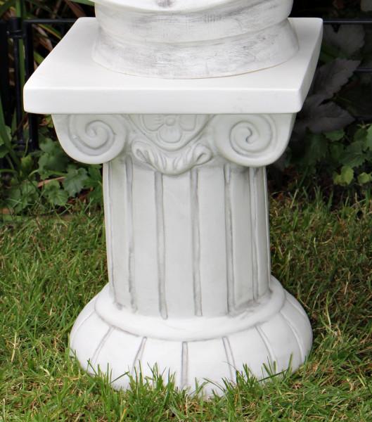 Deko Figur ionische Säule H 30 cm Sockel ionischer Stil klassische Skulptur Dekofigur Kunststoff