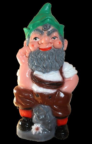Gartenzwerg als Bergwanderer XXL-Zwerg H 95 cm Gartenfigur Riesenzwerg Figur aus Kunststoff