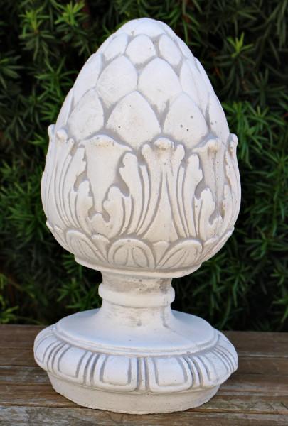 Beton Deko Figur Pinienzapfen klein H 28/Durchmesser 16 cm klassisches Dekoelement Gartenskulptur