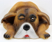 Deko Figur Hund Bello Dekofigur Hunde Büste H 12 cm Hundefigur Bewegungsmelder Wau-wau