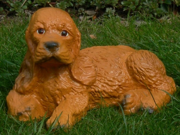 Dekorationsfigur Hund Cocker Spaniel Welpe H 15 cm Dekofigur aus Kunstharz