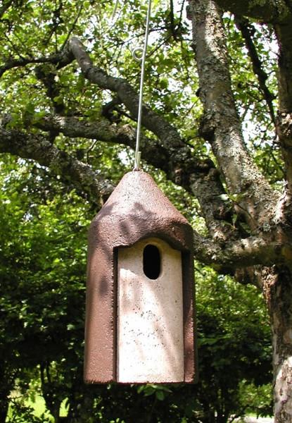 Naturschutzprodukt Nisthöhle Typ 2M Vogelnisthöhle hängend FO Flugloch 29 x 55 mm Satz 2 Stück
