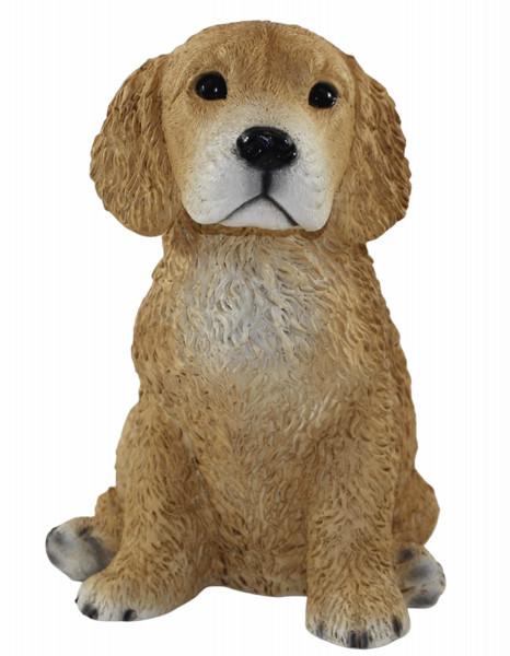 Deko Figur Hund Golden Retriever Welpe Hundefigur sitzend Kollektion Castagna aus Resin H 24 cm
