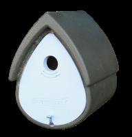 Naturschutzprodukt Nisthöhle Meisenresidenz Typ 1MR Flugloch 32 mm grün-grau