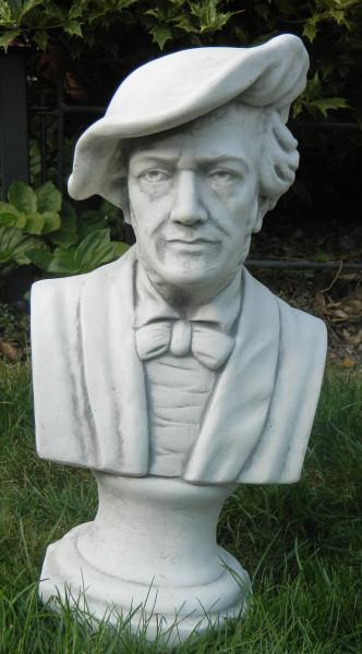 Beton Figur Statue Büste Komponist Richard Wagner H 44 cm Dekofigur und Gartenskulptur