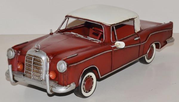 Blechauto Nostalgie Modellauto Oldtimer Mercedes-Benz 220 SE Coupe aus Blech L 34 cm
