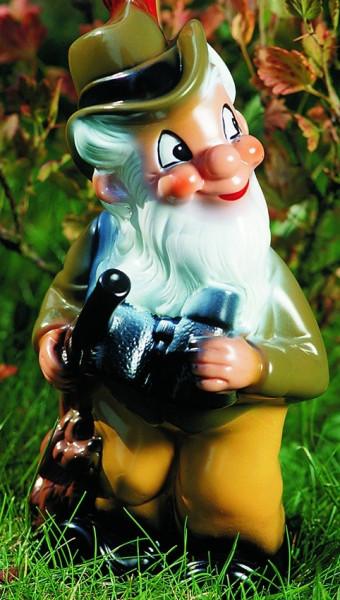 Deko Figur Zwerg Förster H 29 cm Gartenzwerg Gartenfigur aus Kunststoff