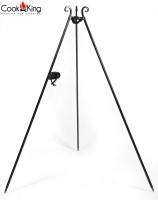 Dreibein Gestell mit Kurbel H 180 cm aus Naturstahl Grill Tripod Grillständer Schwenkgrill