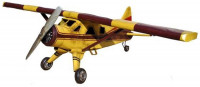 Blechflugzeug Nostalgie Modellflugzeug Oldtimer Marke Bush DHC 2 Flugzeug aus Blech L 170 cm