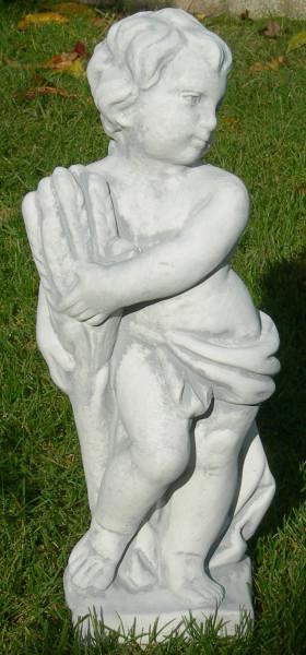 Beton Figur Statue Skulptur Vierjahreszeiten Sommer H 50 cm Putte Dekofigur Gartenskulptur