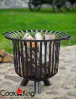 """Feuerkorb """"Verona"""" Ø 60cm Feuerstelle für den Garten aus Stahl Feuersäule als Wärmequelle oder Grill"""