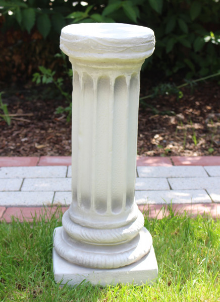 Beton Figur Skulptur ionische Säule H 47 cm Dekofigur Sockel Statue Gartenskulptur