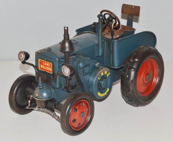 Blechtraktor Nostalgie Modellauto Oldtimer Marke Lanz Bulldog Traktor D95/D1506 aus Blech L 27 cm