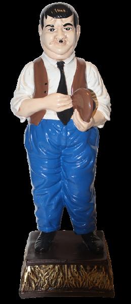 Dekorationsfigur Komiker Dick H 49 cm stehend Deko Figur Oliver Hardy aus Kunstharz
