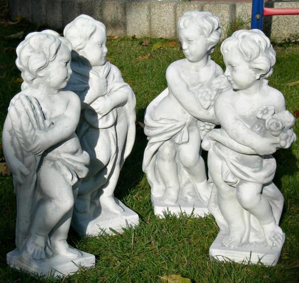 Beton Figuren Statuen Putten Vierjahreszeiten Winter Frühling Sommer Herbst Satz 4 Stück H 50 cm