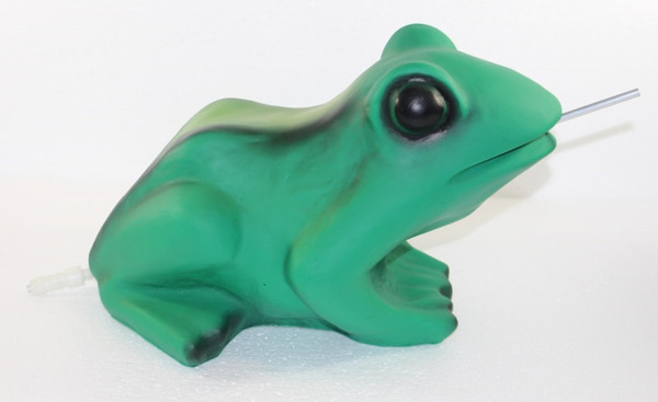 Deko Figur Frosch H 22 cm als Wasserspeier ohne Pumpe Gartenfigur Teichfigur
