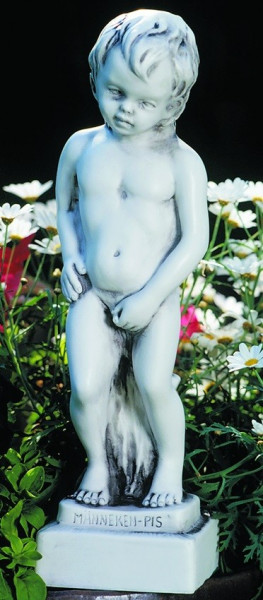 Deko Figur Männeken junger Bube 34 cm Statue Skulptur aus Kunststoff