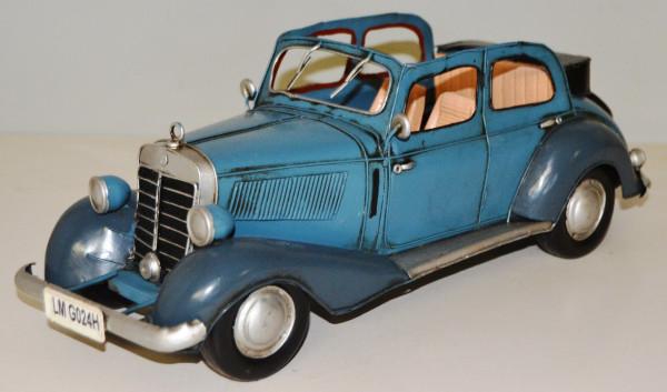 Blechauto Nostalgie Modellauto Oldtimer Mercedes-Benz 170 V Cabrio aus Blech L 34 cm