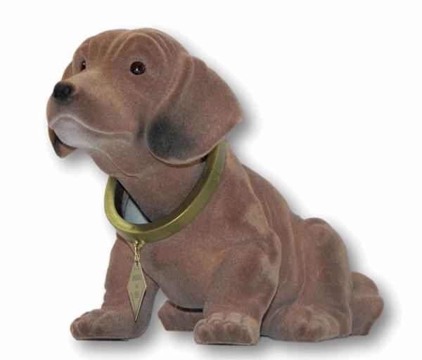 Wackel Dackel Figur Hund Dackel Wackelfigur H 18 cm groß stehend mit Wackelkopf