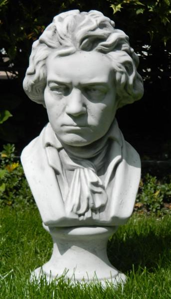 Beton Deko Figur Statue Büste Komponist Musiker Ludwig van Beethoven H 43 cm Dekofigur und Gartensku