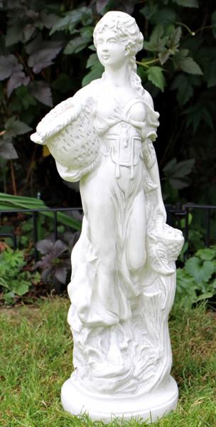 Deko Figur Statue antike Frau Otgera H 68 cm klassische Skulptur Gartenfigur aus Kunststoff