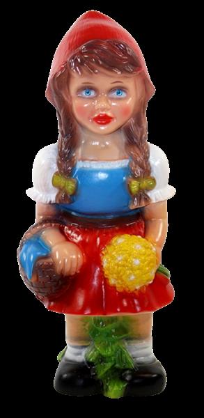 Deko Figur Rotkäppchen Gartenfigur Mädchen Märchenfigur H 31 cm stehend