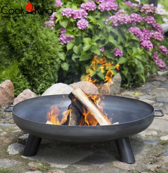 """Feuerschale """"Bali"""" Ø 60cm Feuerstelle für den Garten aus Stahl Feuerkorb als Wärmequelle oder Grill"""