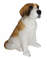 Deko Figur Hund Bernadiner Hundefigur Saint Bernard sitzend Kollektion Castagna aus Resin H 32 cm