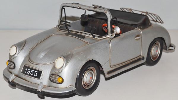 Blechauto Nostalgie Modellauto Oldtimer Porsche 356 Speedster Cabrio Sportwagen aus Blech L 31 cm