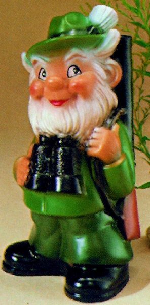 Gartenzwerg Förster Figur Zwerg H 27 cm Gartenfigur aus Kunststoff