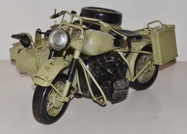 Blechmotorrad Nostalgie Modellauto Oldtimer Marke BMW Militär Motorrad 1944 aus Blech L 39 cm
