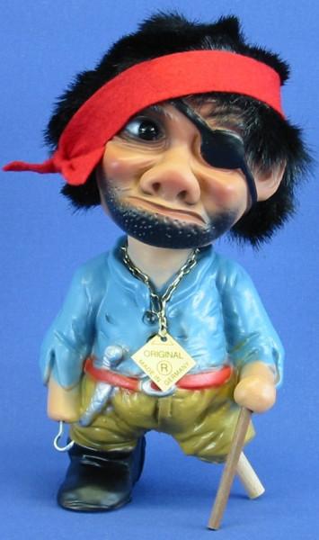 Souvenir Wackel Figur Pirat klein H 15 cm Wackelfigur Original mit Wackelkopf