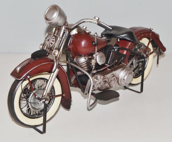 Blechmotorrad Nostalgie Modellauto Oldtimer Marke Harley-Davidson Motorrad USA aus Blech L 34 cm
