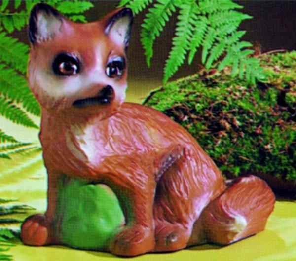 Deko Figur Fuchs mittel H 22 cm Gartenfigur Dekofigur aus Kunststoff