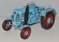 Blechtraktor Nostalgie Modellauto Oldtimer Marke Lanz D 1906 Bulldog Traktor Modell aus Blech L 26cm