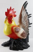 Deko Garten Figur Dekofigur Gartenfigur Tierfigur bunter Hahn stehend aus Kunststoff Höhe 30 cm