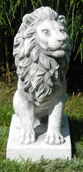 Beton Figur Gartenfigur Löwe links blickend H 35 cm Dekofigur und Gartenskulptur Beton